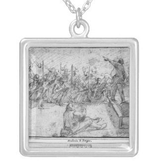 Drawing academy silver plated necklace