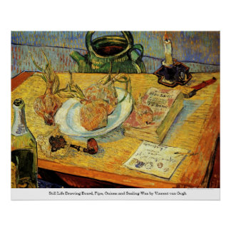Drawing Board, Pipe and Onions - Vincent van Gogh Posters