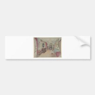 Drawing of an Interior- Cabinet du Salon Bumper Sticker