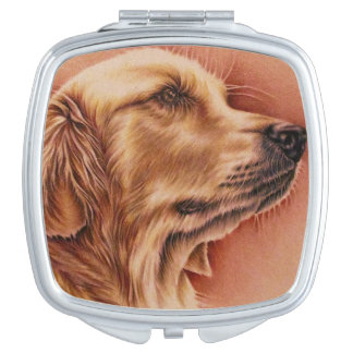 Drawing of Golden Retriever on Mirror