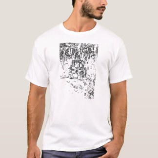 drawing tractor and nature T-Shirt