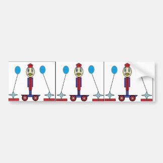 drawn skating kid bumper sticker