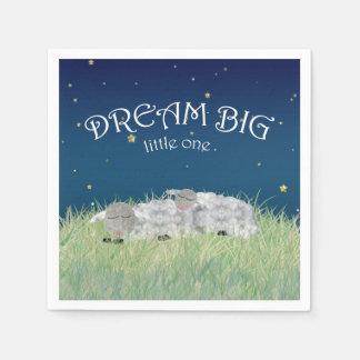 Dream Big Little One Cute Nursery Art Paper Napkins