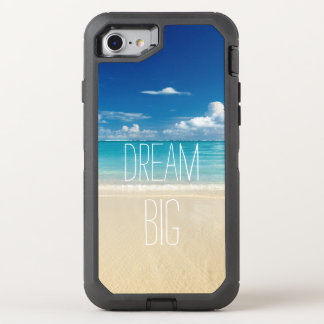Dream Big Motivational Quote Beach Theme OtterBox Defender iPhone 8/7 Case