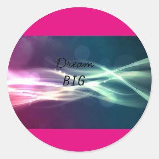 Dream big sticker with cool design