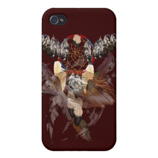 Dream Catcher and Hawk face  Covers For iPhone 4