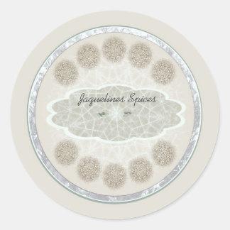 Dream catcher cinnamon swirl personalizable label round sticker