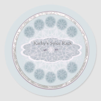 Dream catcher slate blue personalizable labels round stickers