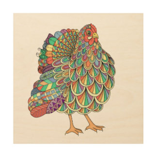 Dream Chicken Wood Wall Art