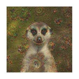 Dream Creatures, Meerkat, DeepDream Wood Wall Art