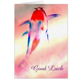 Dream Fish Good Luck Card