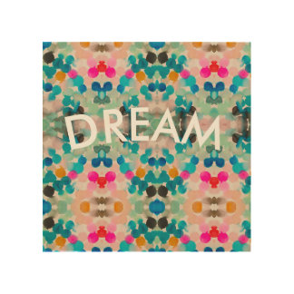 """Dream"" wood board poster frame"