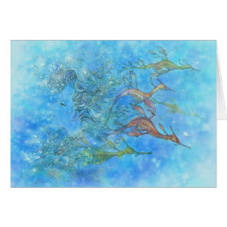 Dreaming On AquamarineTides Greeting Cards