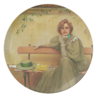 Dreams by Vittorio Matteo Corcos 1896 Party Plate