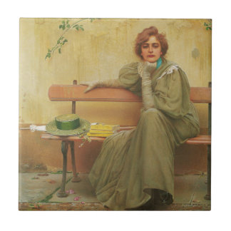 Dreams by Vittorio Matteo Corcos 1896 Tile