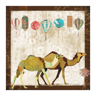 Dreamy Camels Journey Canvas Art Stretched Canvas Prints