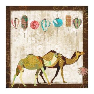 Dreamy Camels Journey Canvas Art Stretched Canvas Prints