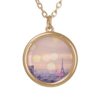 Dreamy Vintage Eiffel Tower Bokeh Necklace
