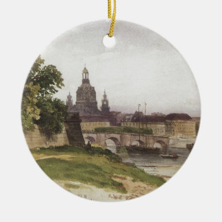 Dresden. Bridge of August by Ivan Shishkin Christmas Ornament