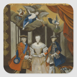 Dresden Peace Allegory, 1745 Square Stickers