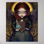 Dress of Alchemy ART PRINT gothic angel fairy icon