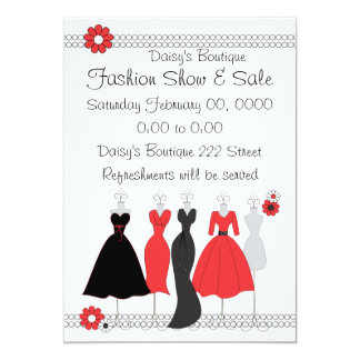 Dress Shop Daisy Theme 13 Cm X 18 Cm Invitation Card