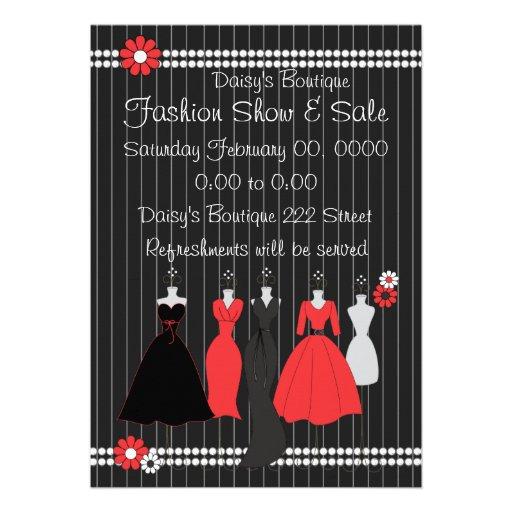 Dress Shop Daisy Theme Custom Announcements