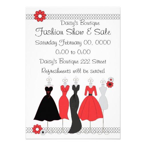 Dress Shop Daisy Theme Invitation