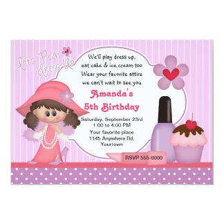 Dress Up Birthday Party 13 Cm X 18 Cm Invitation Card