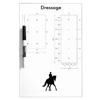 Dressage Dry Erase Board - Both Arena Sizes