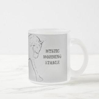 Dressage Frosted Glass Coffee Mug
