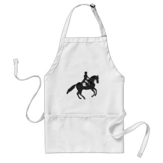 Dressage Horse and Rider Mosaic Design Apron