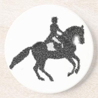 Dressage Horse and Rider Mosaic Design Coaster