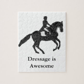 Dressage Horse and Rider Mosaic Design Jigsaw Puzzle