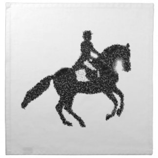 Dressage Horse and Rider Mosaic Design Napkin