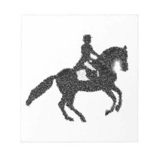 Dressage Horse and Rider Mosaic Design Notepad