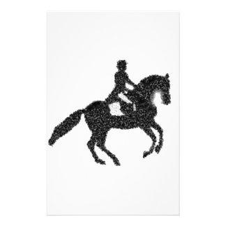 Dressage Horse and Rider Mosaic Design Stationery