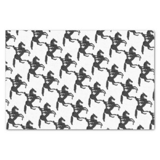 Dressage Horse and Rider Mosaic Design Tissue Paper