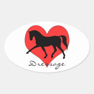 Dressage Love Oval Sticker