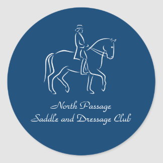 Dressage or saddleclub classic round sticker