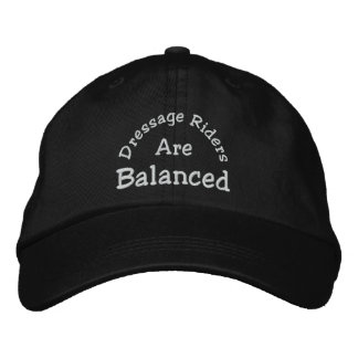 Dressage Riders Balanced Embroidered Baseball Cap