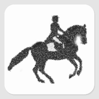 Dressage Sticker with Mosaic Horse and Rider