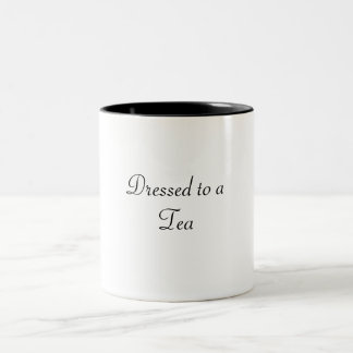 Dressed to a TEA Two-Tone Coffee Mug