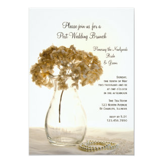 Dried Hydrangea Post Wedding Brunch Invitation