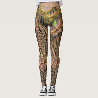 Dried Peafowl Feathers Leggings