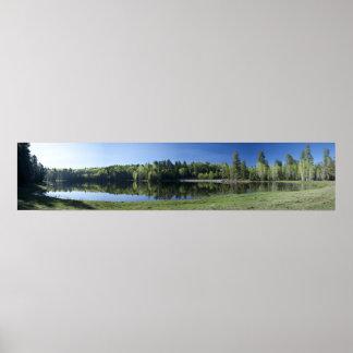 Drift Fence Lake Panorama Poster