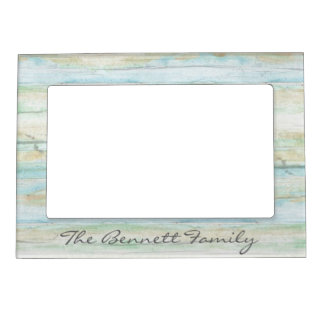 Driftwood Ocean Beach House Coastal Seashore Magnetic Picture Frame