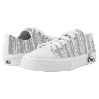 Driftwood pattern - grey / gray and white low tops