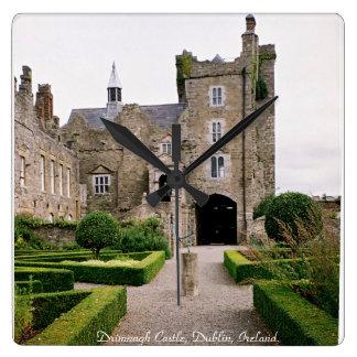 Drimnagh Castle clock, Dublin Ireland. Square Wall Clock
