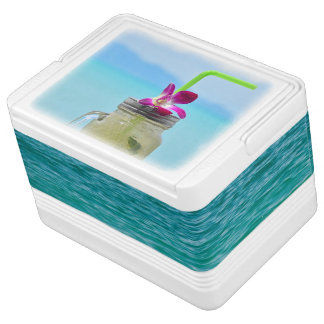 Drink cooler print with cold ice mojito chilly bin